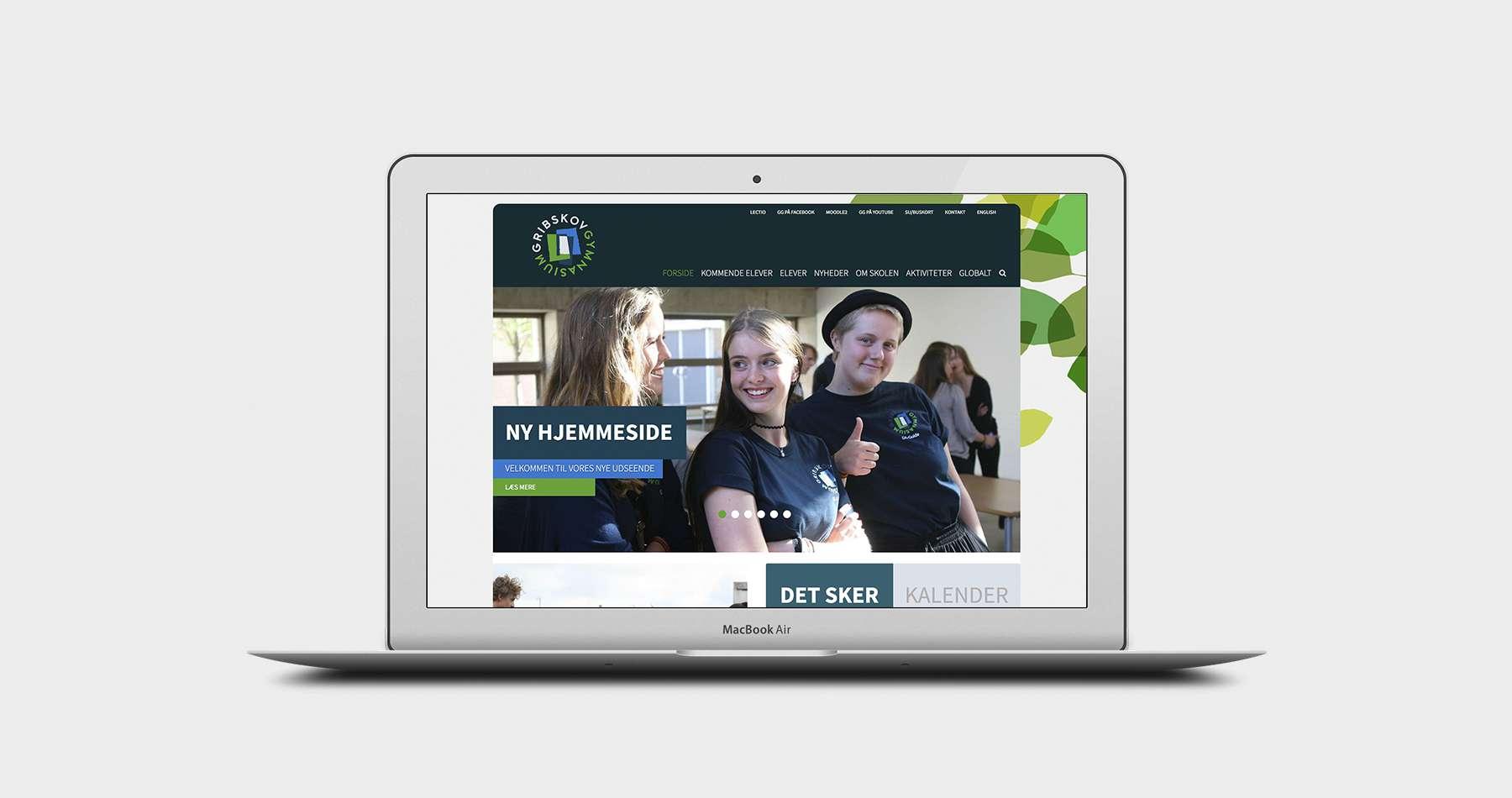 ny hjemmeside til gymnasium